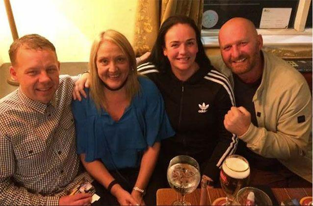 (From left) Craig and Jackie O'Neill, and friends Helen Wilson and Jay Cartwright experienced trouble at sea when their boat capsized. Picture: Jackie O'Neil/Facebook