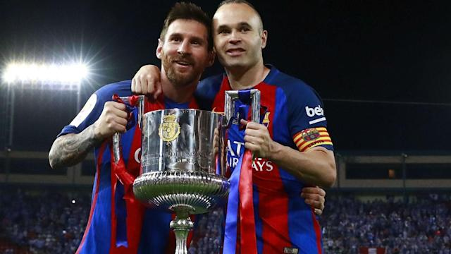 Lionel Messi's Barcelona contract expires at the end of the season and Andres Iniesta has called for him to renew soon.