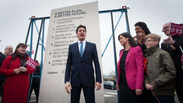 Ed Miliband's famous 'Ed stone' of 2015 election pledges cost the party £5,400... (Stefan Rousseau/PA Images)