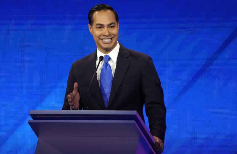Juliàn Castro at the Democratic presidential debate in Houston on Sept. 12. (Photo: Mike Blake/Reuters)