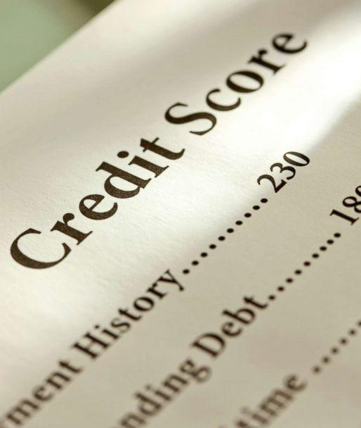 PHOTO: In this undated stock photo shows a credit score card. (STOCK PHOTO/Getty Images)