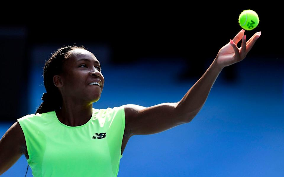 Coco Gauff will face Venus Williams on the opening day of the Australian Open - AFP