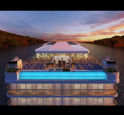 Similar to Viking's fleet of ocean ships, the new Viking Mississippi river vessel, debuting in 2022, will have a glass-backed pool experience at the aft, allowing guests to take a dip while fully surrounded by their destination. For more information, visit www.viking.com.