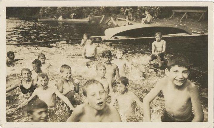 Children playing at Camp Wakitan, from the Records of the Hebrew Orphan Asylum of the City of New York.