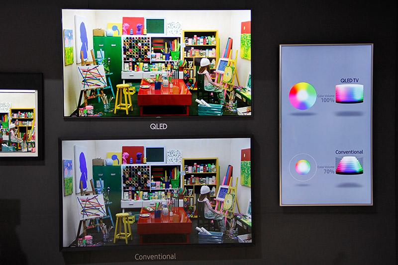 In short, color integrity is difficult to maintain as brightness changes. What Samsung is saying is that while other TVs can maintain the color integrity at a certain (usually low) lumianance, they fall apart as brightness goes up. But the QLED TVs can maintain it regardless of brightness level.