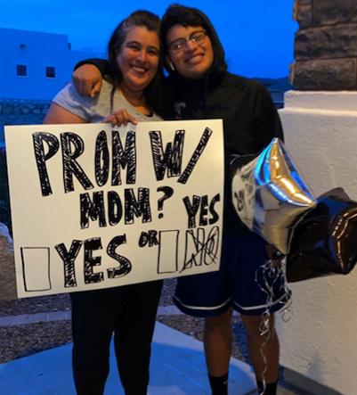 Naomi Medina planned an at-home prom for her son after his senior prom was canceled due to the coronavirus pandemic. (Photo: Courtesy of Naomi Medina)