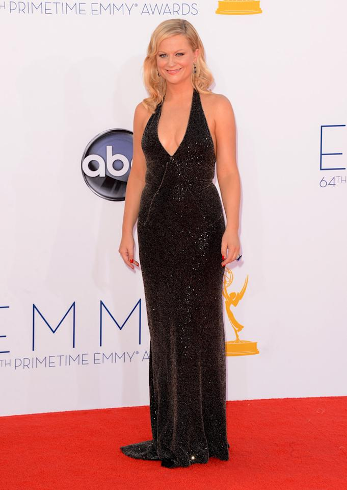 Amy Poehler arrives at the 64th Primetime Emmy Awards at the Nokia Theatre in Los Angeles on September 23, 2012.