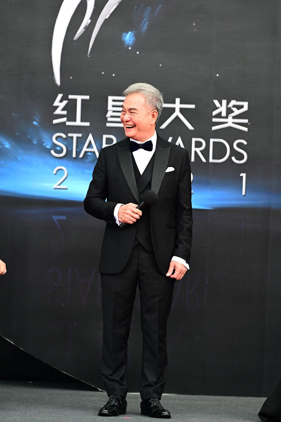 Richard Low at Star Awards held at Changi Airport on 18 April 2021. (Photo: Mediacorp)