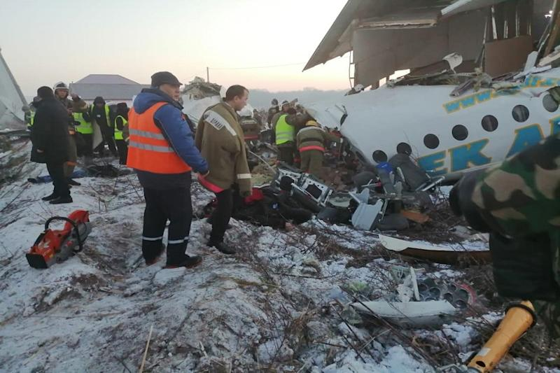 At Least 9 Killed as Bek Air Plane with 100 on Board Crashes During Take-off in Kazakhstan's Almaty