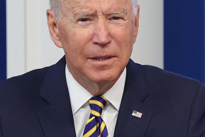President Biden on Friday at a meeting of the Major Economies Forum on Energy and Climate at the White House.