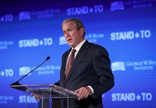 PHOTO: Former U.S. President George W. Bush speaks during a conference at the U.S. Chamber of Commerce June 23, 2017 in Washington, DC. (Alex Wong/Getty Images)