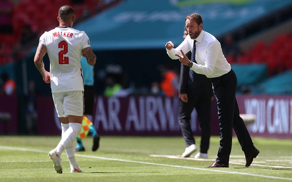 Gareth Southgate, Head Coach of England gives instructions - Getty