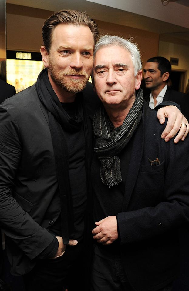 "<b>All in the Family</b><br><a href=""http://movies.yahoo.com/person/ewan-mcgregor/"">Ewan McGregor</a> plays a young Obi-Wan Kenobi in the trilogy of prequels, which was made after the original trilogy. McGregor may not have a familial relation to Sir Alec Guinness, who first brought the Jedi Knight to life, but he does have a relative from the original film: McGregor's uncle, Dennis Lawson, played X-wing fighter pilot Red Two, better known as Wedge, Luke's wingman in ""Star Wars"" and the only pilot to live through both Death Star runs."
