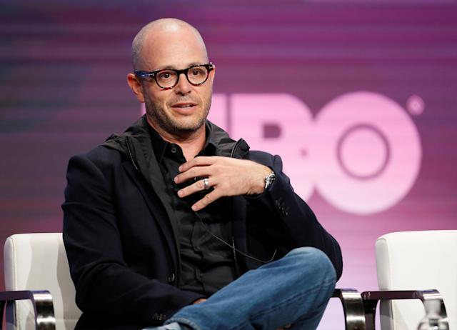 "Executive producer and writer Damon Lindelof participates in the ""Watchmen"" panel during the HBO portion of Television Critics Association (TCA) Summer Press Tour in Beverly Hills, California, U.S., July 24, 2019. REUTERS/Danny Moloshok"