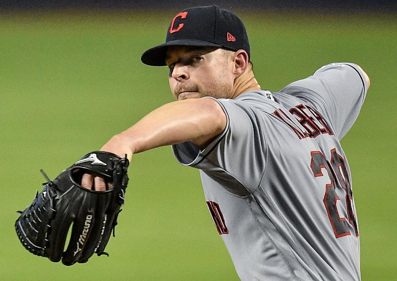 Indians ace Corey Kluber hasn't pitched since May 1 because of injury. (Photo by Mark Brown/Getty Images)