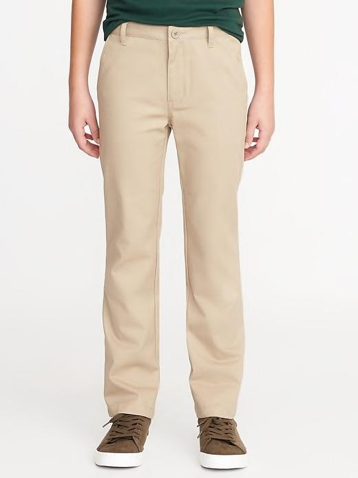 Straight Built-In Flex Uniform Pants for Boys. Image via Old Navy.