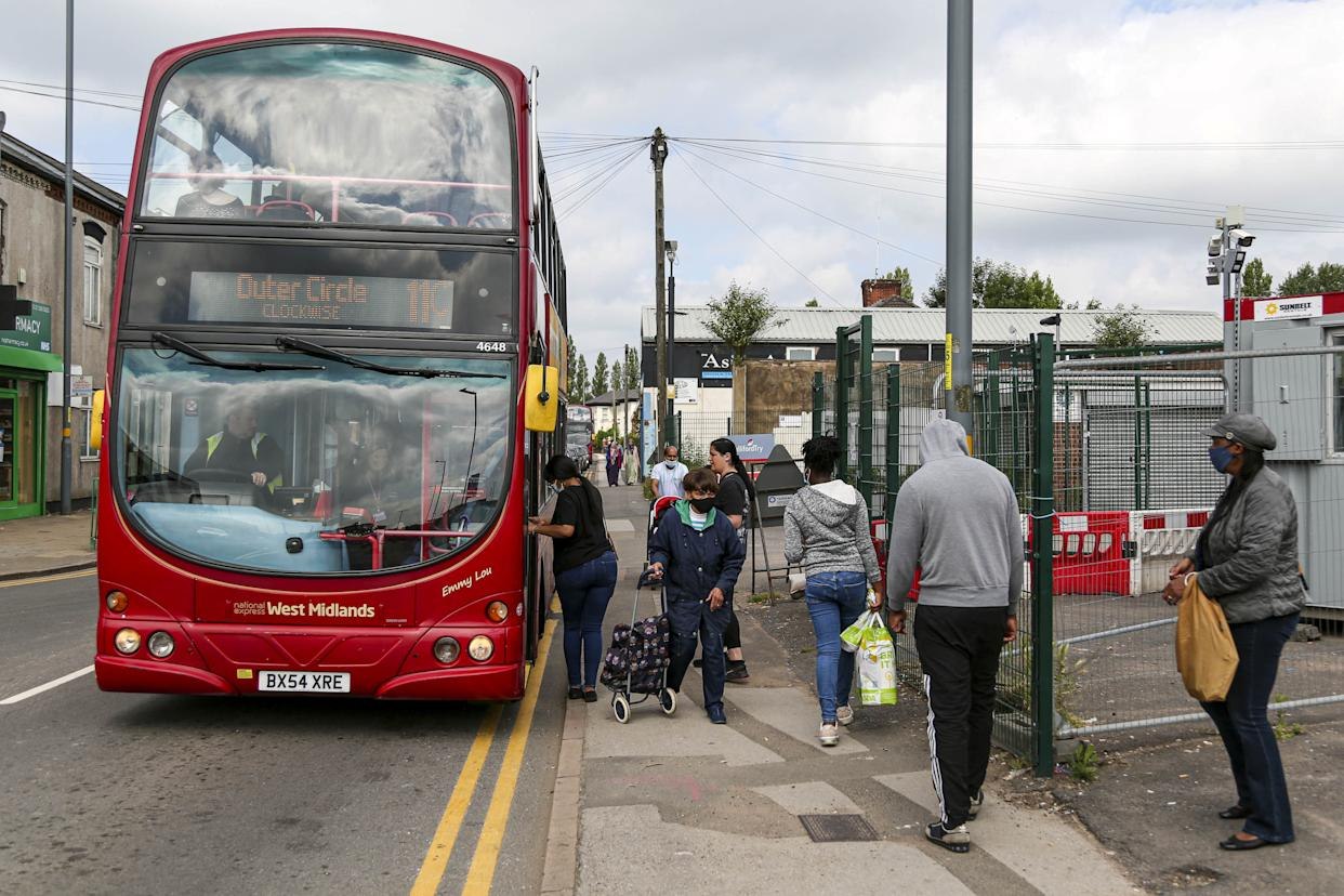 Ongoing works at Perry Barr, Birmingham, which has caused the famous number 11 bus route to be split in two.