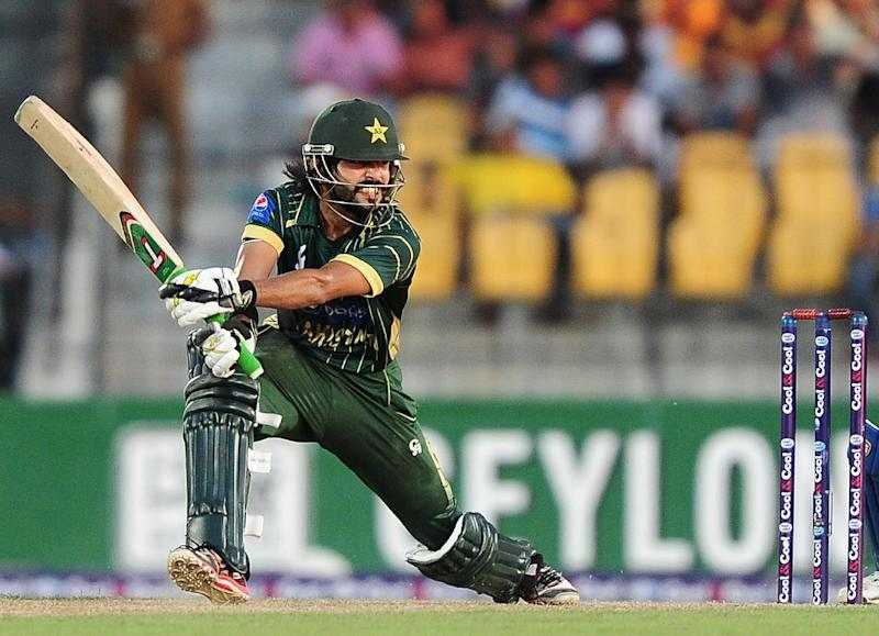 Pakistan batsman Fawad Alam plays a shot during the first One Day International (ODI) match between Sri Lanka and Pakistan at the Suriyawewa Mahinda Rajapakse International Cricket Stadium in the southern district of Hambantota on August 23, 2014 (AFP Photo/Lakruwan Wanniarachchi)