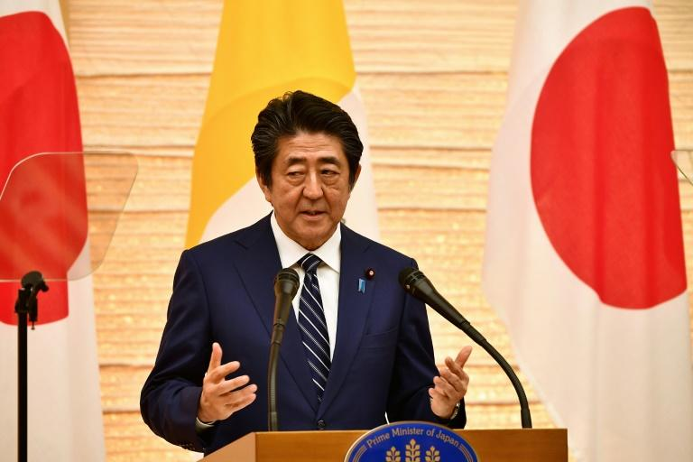 "Prime Minister Shinzo Abe said North Korea had fired ""ballistic missiles"" that violated UN resolutions (AFP Photo/Vincenzo PINTO )"