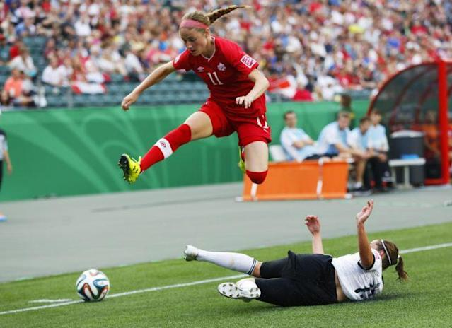 Beckie scored 20 seconds into her first Olympic game. (Getty Images)
