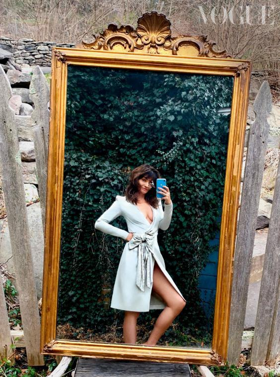 ''I wore this vintage Christian Dior dress to an Oscars week party. History is in every thread, and it oozes an elegance and glamour that hardly exists anymore. I felt as if I were playing the part of a very cool, chic character wearing it,' says Helena Christensen (British Vogue/Helena Christensen)