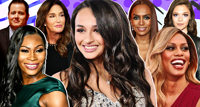 Transgender visibility has skyrocketed over the past decade, thanks, in large part, to pop culture figures. From left: Chaz Bono, Dominique Jackson, Caitlyn Jenner, Jazz Jennings, Janet Mock, Laverne Cox and Nicole Maines. (Photo collage: Getty Images/Quinn Lemmers for Yahoo Lifestyle)