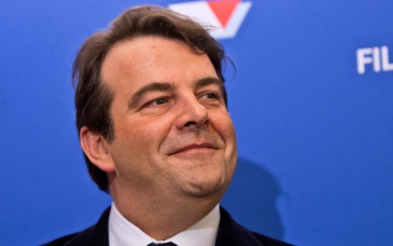 Thierry Solere, François Fillon's campaign spokesman, has stepped down - Credit: AP