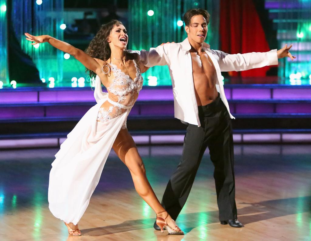"Karina Smirnoff and Apolo Anton Ohno perform on ""Dancing With the Stars: All-Stars."""