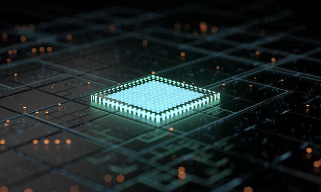 5G central processing unit and circuit board rendering (Photo: Weiquan Lin via Getty Images)