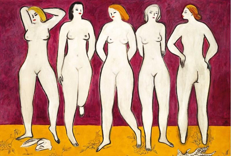 Chinese art Sanyu's Five Nudes sold for US$39.1 million at an auction last November. Photo: Handout