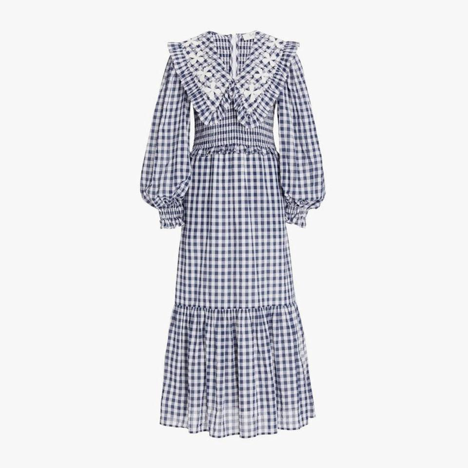 "$365, MODA OPERANDI. <a href=""https://www.modaoperandi.com/women/p/sea/gina-smocked-gingham-cotton-maxi-dress/486571"" rel=""nofollow noopener"" target=""_blank"" data-ylk=""slk:Get it now!"" class=""link rapid-noclick-resp"">Get it now!</a>"