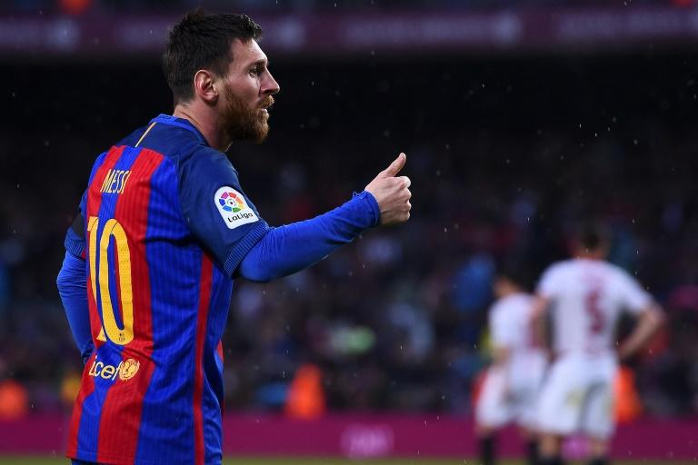 Barcelona's Lionel Messi, pictured in April 2017, has been seeing sports nutritionist and muscle specialist  Giuliano Poser for the past two years