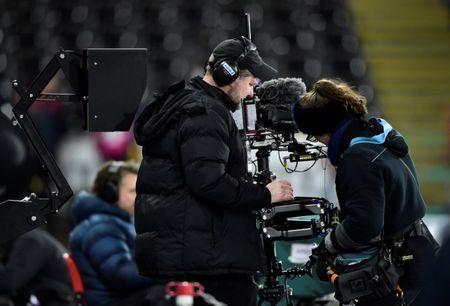 Soccer Football - FA Cup Fourth Round Replay - Swansea City vs Notts County - Liberty Stadium, Swansea, Britain - February 6, 2018 General view of the VAR (Video Assistant Referee) system before the match REUTERS/Rebecca Naden