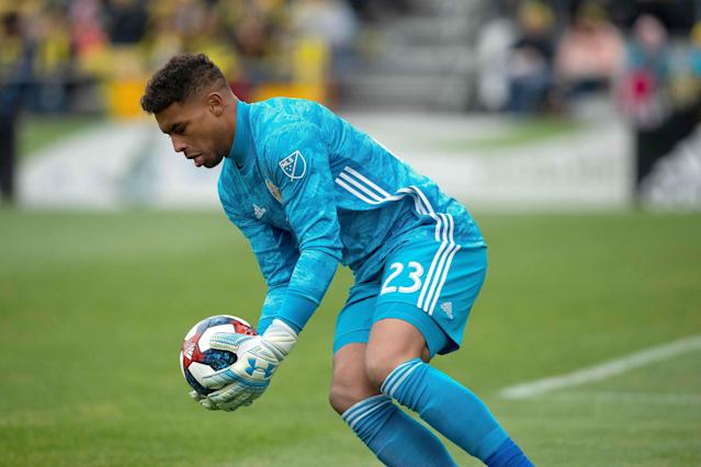 "<a class=""link rapid-noclick-resp"" href=""/soccer/players/751598/"" data-ylk=""slk:Zack Steffen"">Zack Steffen</a> has been a the most sure-handed keeper in MLS this season, and he's now fully recovered from the hamstring injury that forced him to miss a pair of U.S. games last month. (Joe Maiorana/Reuters)"