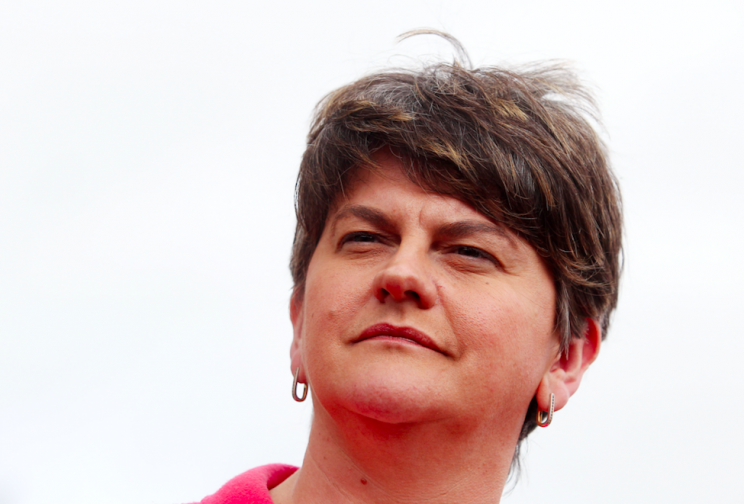 DUP leader Arlene Foster will come to Downing Street with a list of demands (Rex)