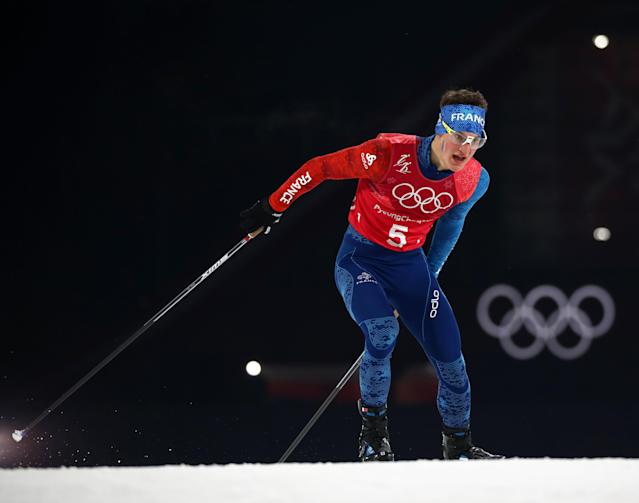Nordic Combined Events - Pyeongchang 2018 Winter Olympics - Men's Team 4 x 5 km Final - Alpensia Cross-Country Skiing Centre - Pyeongchang, South Korea - February 22, 2018 - Antoine Gerard of France competes. REUTERS/Carlos Barria
