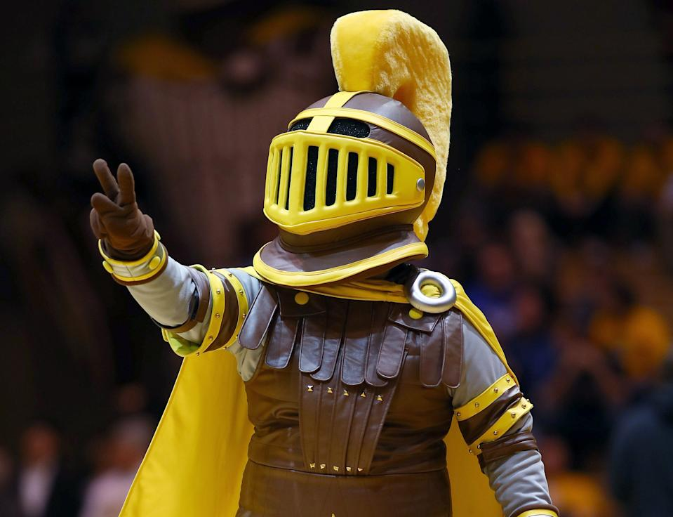 The Valparaiso Crusaders mascot