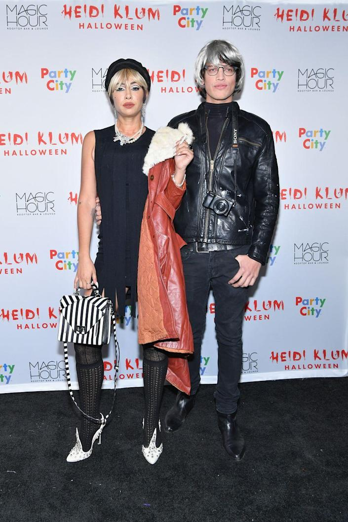 """<p>You and your boo will inspire everyone's Halloween costumes next year if you show up as famed artist Andy Warhol and his longtime muse, Edie Sedgwick. </p><p><a class=""""link rapid-noclick-resp"""" href=""""https://www.amazon.com/Aimole-Synthetic-Straight-Resistant-Capless/dp/B0796SW7KT?tag=syn-yahoo-20&ascsubtag=%5Bartid%7C10070.g.1923%5Bsrc%7Cyahoo-us"""" rel=""""nofollow noopener"""" target=""""_blank"""" data-ylk=""""slk:SHOP BLONDE PIXIE WIG"""">SHOP BLONDE PIXIE WIG</a></p><p><a class=""""link rapid-noclick-resp"""" href=""""https://www.amazon.com/COSPLAZA-Cosplay-short-white-Party/dp/B00MCGRNRI?tag=syn-yahoo-20&ascsubtag=%5Bartid%7C10070.g.1923%5Bsrc%7Cyahoo-us"""" rel=""""nofollow noopener"""" target=""""_blank"""" data-ylk=""""slk:SHOP SILVER BOB WIG"""">SHOP SILVER BOB WIG</a></p>"""
