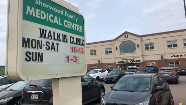 Staff at this walk-in clinic said they had the capacity to see only 50 patients Wednesday, and anyone else would have to be turned away.  (Kerry Campbell/CBC - image credit)