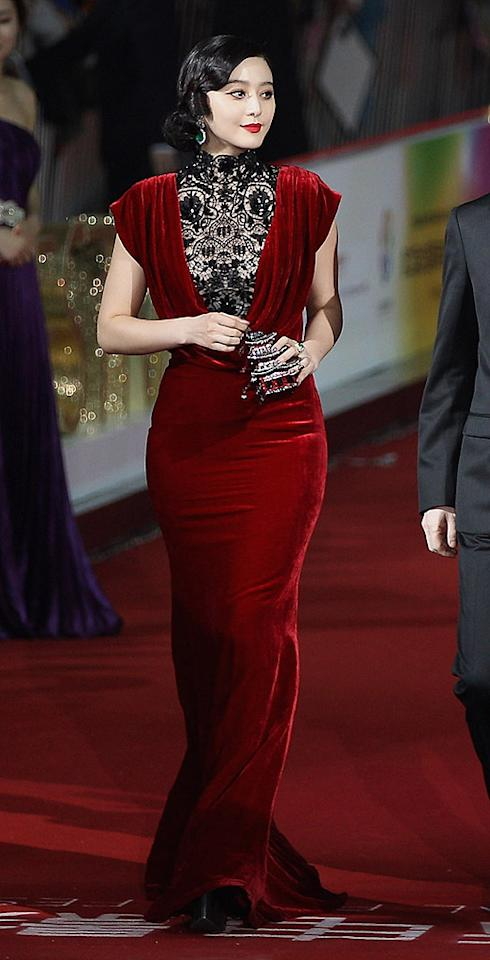 The majority of you probably don't know who Fan Bingbing is, but you should. She's a Chinese actress with a killer sense of style. And you'll be seeing a lot more of her in 2 Hot 2 Handle if she keeps wearing gowns as flawless as the Tadashi Shoji one she wore to the Beijing Film Festival. To. Die. For! (4/23/2012)