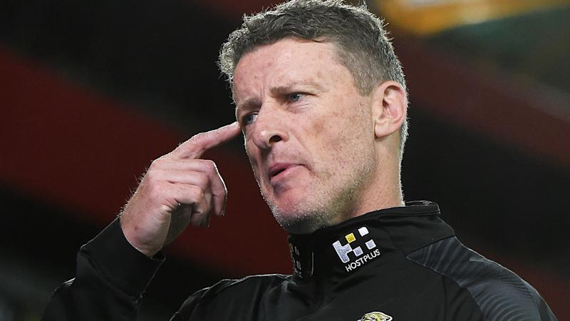 Richmond coach Damien Hardwick is pictured during the round nine AFL match against the Western Bulldogs.