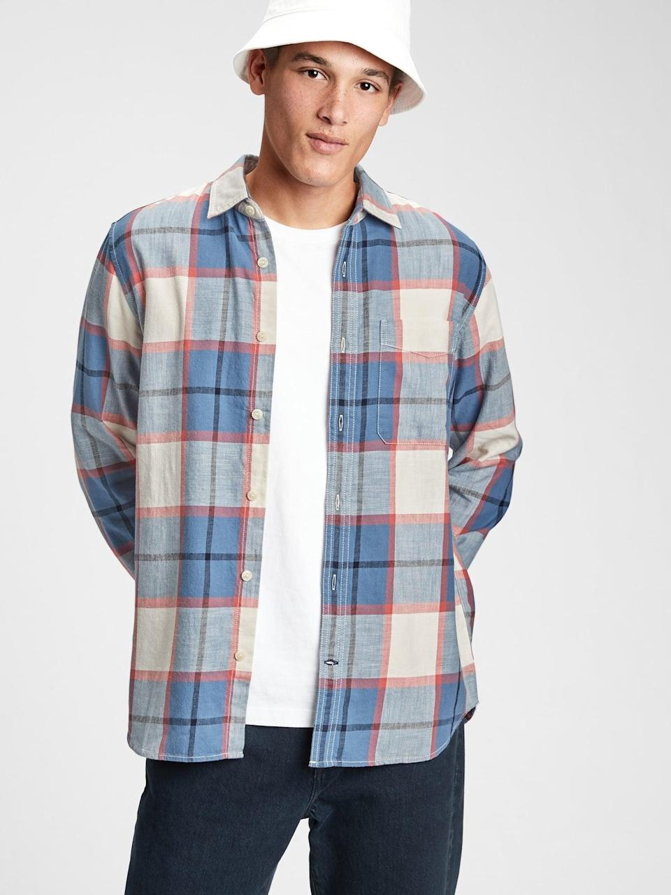 <p>This <span>Gap Flannel Shirt</span> ($41, originally $60) is the perfect layering piece. </p>