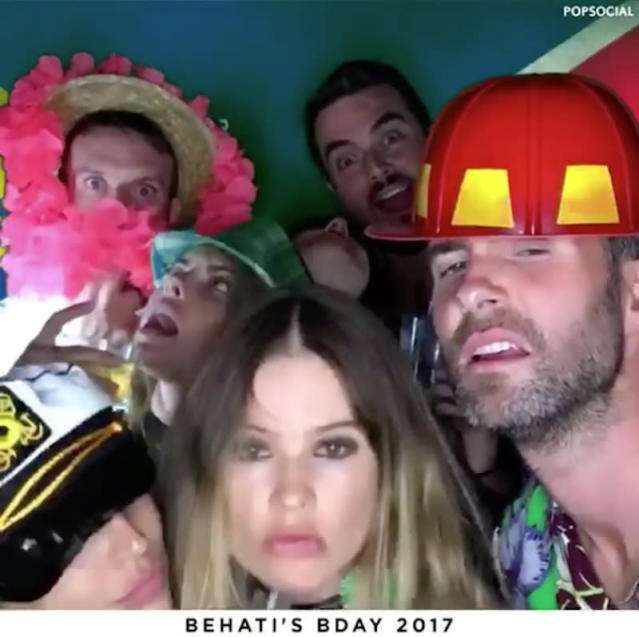 "<p>The singer and his pals let loose at wife Behati Prinsloo's 28th-birthday bash: ""PARTY DAYZ!"" (Photo: <a href=""https://www.instagram.com/p/BUNRaLVl8K5/"" rel=""nofollow noopener"" target=""_blank"" data-ylk=""slk:Adam Levine via Instagram"" class=""link rapid-noclick-resp"">Adam Levine via Instagram</a>) </p>"