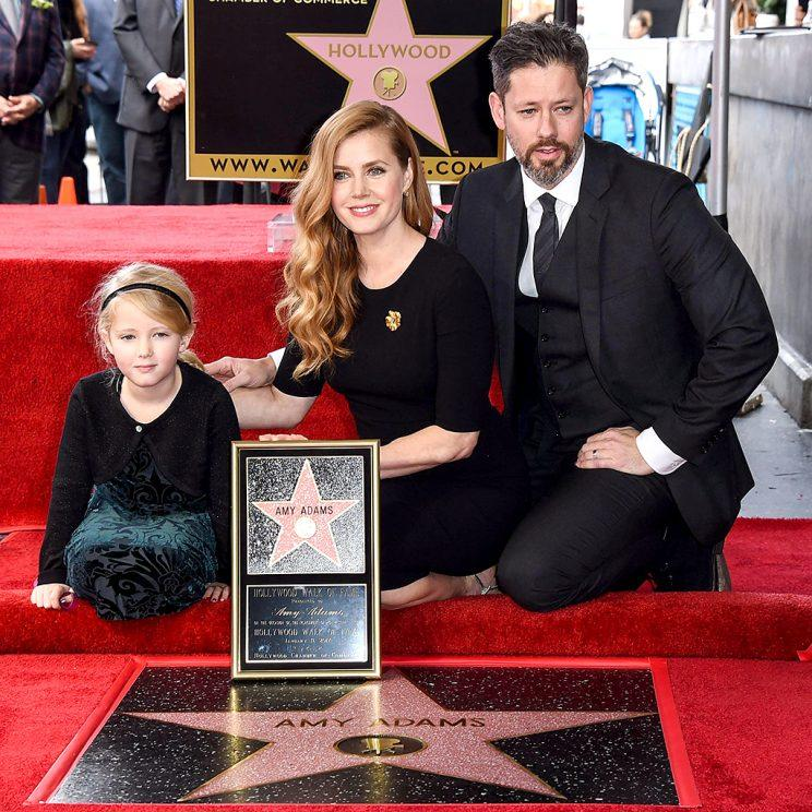 Amy Adams Honored With Star On The Hollywood Walk Of Fame on January 11, 2017 in Hollywood, California. Pictured: Amy Adams, Aviana Le Gallo, Darren Le Gallo Ref: SPL1421435 110117 Picture by: Splash News Splash News and Pictures Los Angeles:310-821-2666 New York:212-619-2666 London:870-934-2666 photodesk@splashnews.com
