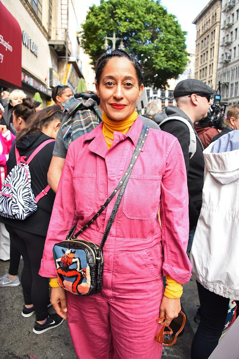 Tracee Ellis Ross attends the Women's March Los Angeles, California.