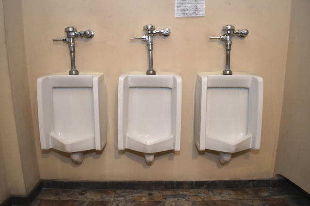 <p>A public toilet in San Salvador, El Salavador. (Photo: Marvin Recinos/AFP/Getty Images) </p>