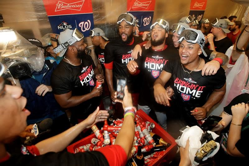 Kendrick slam in 10th lifts Nats over Dodgers 7-3, into NLCS