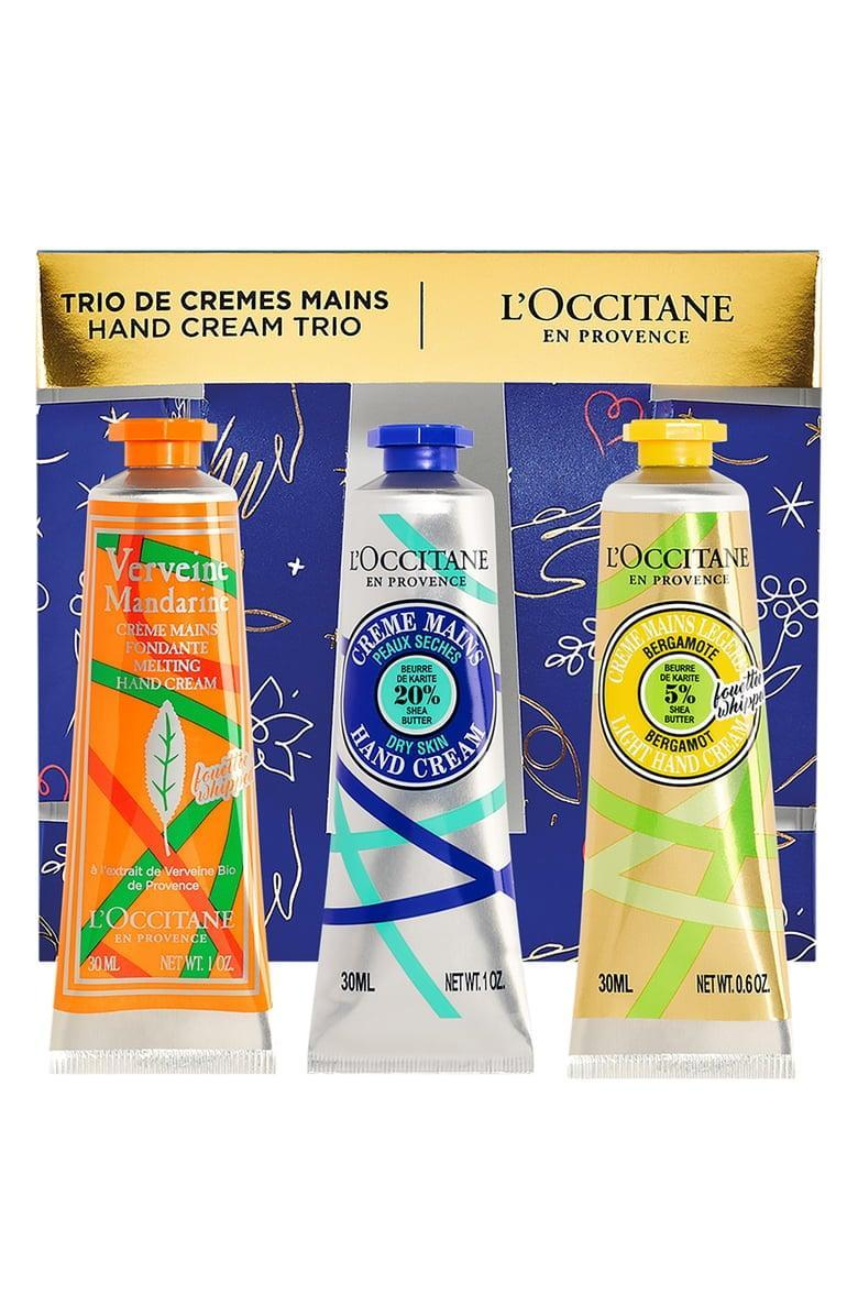 <p>This <span>L'Occitane Hand Cream Trio</span> ($29) is going to be a highly coveted gift.</p>