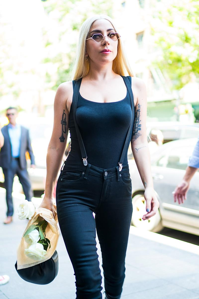 Lady Gaga is seen in Greenwich Village on June 26, 2018 in New York City. Photo courtesy of Getty Images.