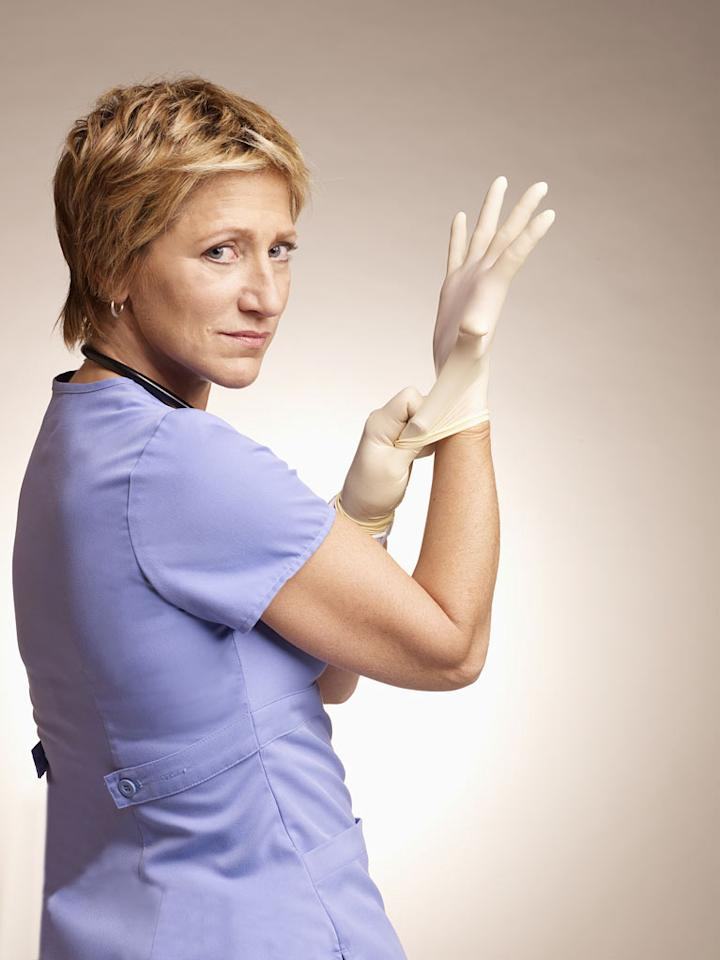 "Edie Falco (""Nurse Jackie"") is nominated for Outstanding Lead Actress in a Comedy Series."